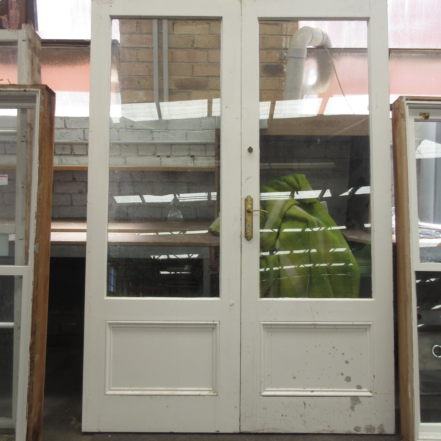 Double doors french doors timber glass no frame doors only for French doors no glass