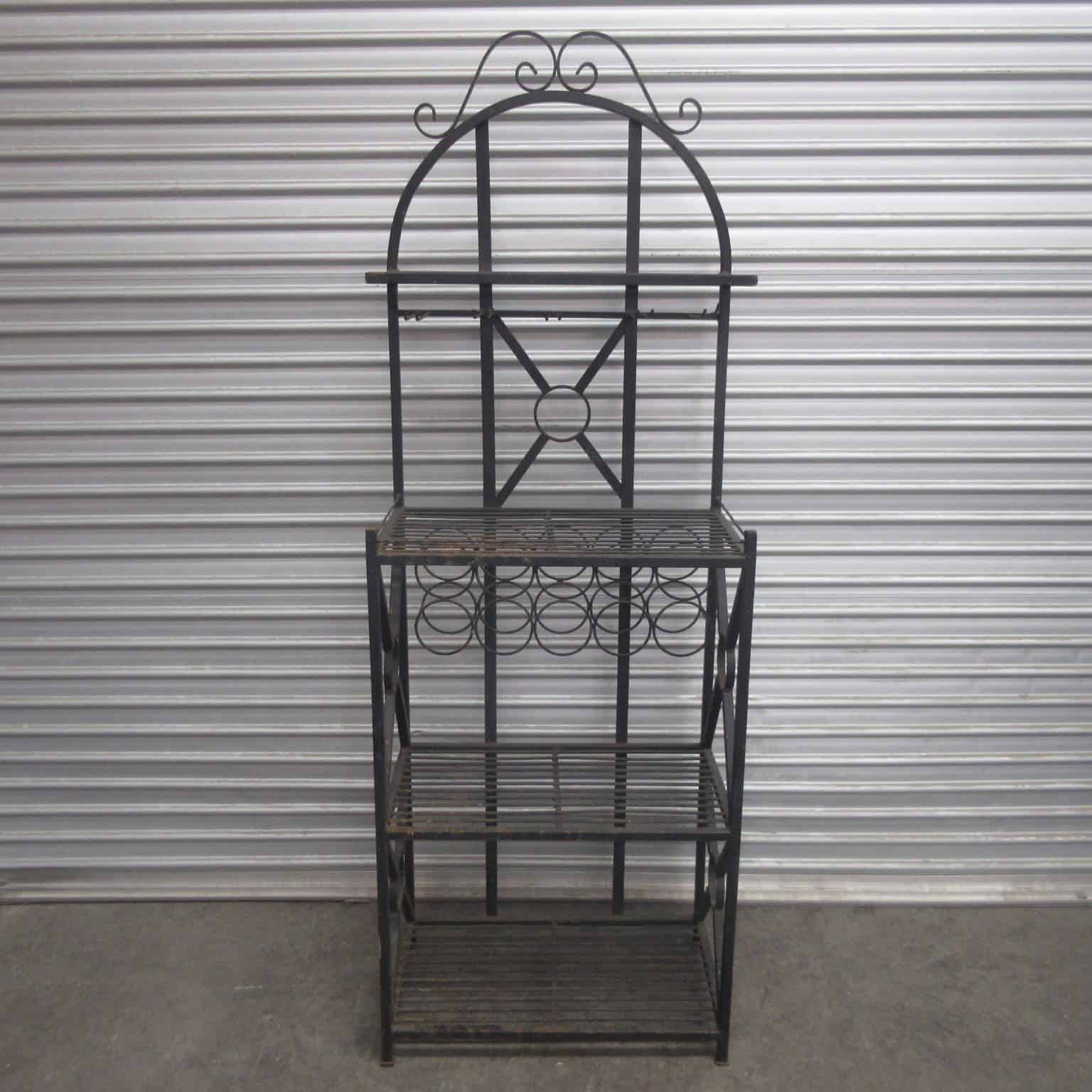outdoor bar shelving unit decorative black metal