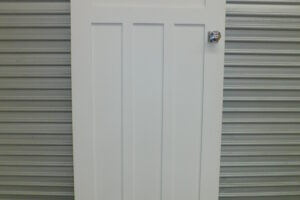 Door Internal 4 panel door, Solid timber, 805mm W x 1995 mm H, 1c